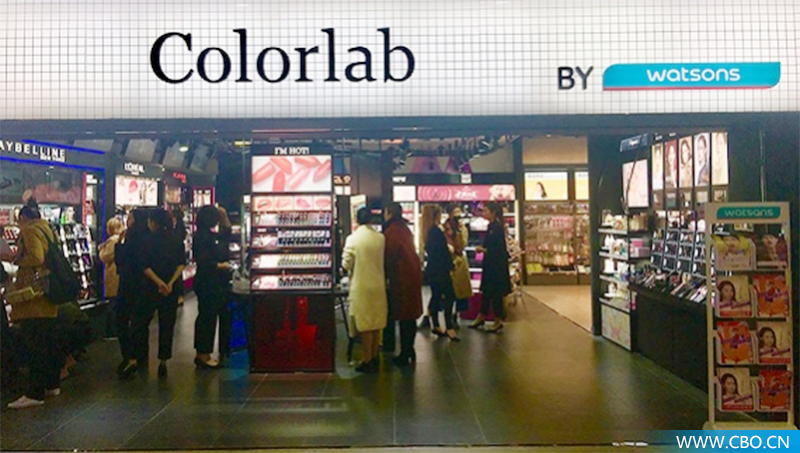 想卖好彩妆的屈臣氏,拉上欧莱雅推出了Colorlab